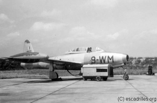 Le Thunderjet, ici de l'EC 1/9 Limousin, qui vola sur F-84E, puis -G