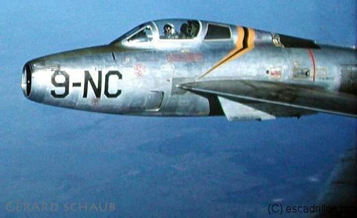Gérard Schaub fit partie des pilotes de F-84F de l'Auvergne, dès 1956