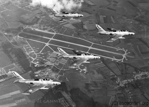 Le déménagement de Lahr vers Metz est vite suivi de l'arrivée des F-84Fau 2/9