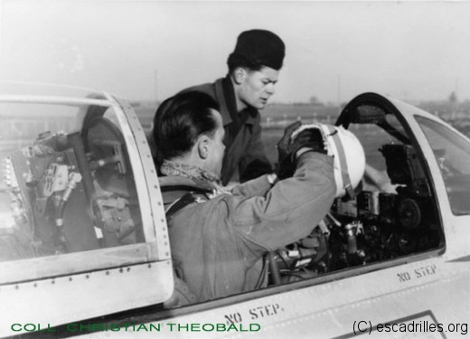 Pilote, mécanicien, et un Thunderjet à Lahr