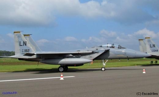 Venu de Lakenheath, notamment ce F-15D du 493rd FS