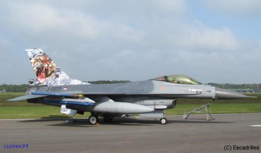 F-16 J-003 Tigre du 313nd Sqn de la Klu, un voisin