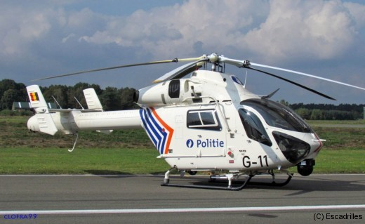 Le G11 de la Police Fédérale (belge) est un NOTAR (NO TAil Rotor) un MD900 déjà reconfiguré en MD902