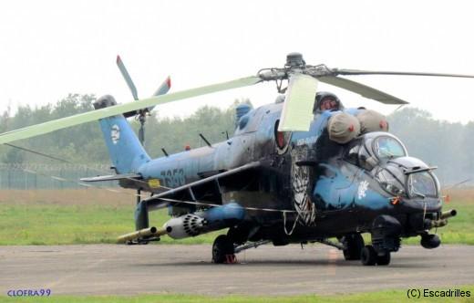Un joli Mi24V Tigre du 221 Sqn