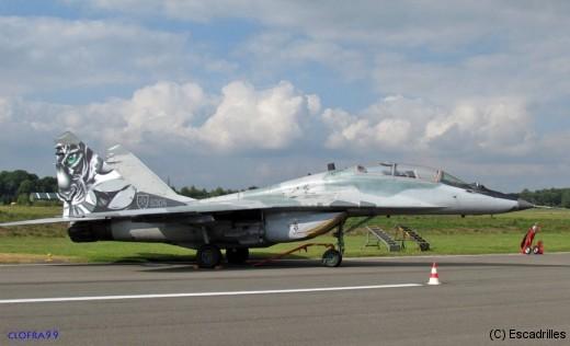 Le 5304 MiG-29UBS Tigre du 1 Bojovà Letka de la Slovak Air Force basé à Sliac