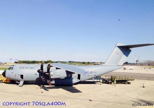 Le Sqn 70 réceptionne son 4ème A400 (ZM405) le 10 septembre