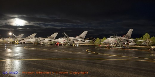Lignée de Tornado, pendant l'exercice 'Trident Juncture' de 2015