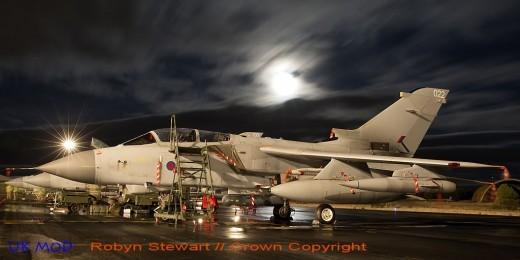 En octobre et novembre, les Tornado de la RAF ont tiré au cours de 17 missions au moins