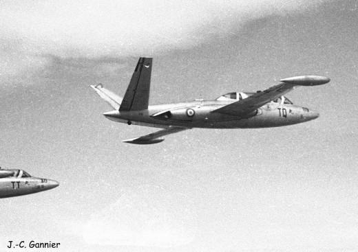 Fouga Magister du GE 312 vu en 1962 ou 1963