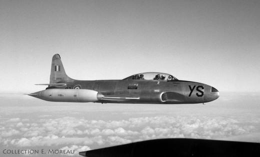 Un Canadair T-33 vu en 1963, alors qu'il n'avait pas été standardisé