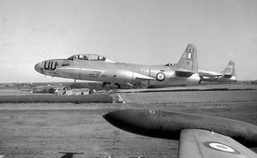 T-33 au décollage PS vu en 1969