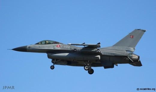 Actuellement en France pour exercices, des F-16 danois