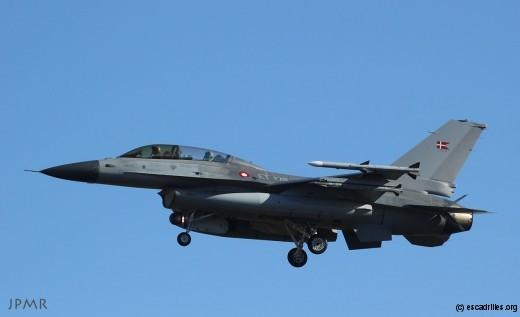 F-16B du 'Wing' de Skrydstrup