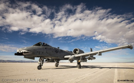 Not stuck U.S. Air Force Lt. Col. Ryan Haden, 74th Fighter Squadron commander, prepares for takeoff in an A-10C Thunderbolt II, Dec. 3, 2014, at the White Sands Missile Range, N.M. The A-10 is currently the only Air Force fighter aircraft capable of desert landing and takeoff. (U.S. Air Force Photo by Airman 1st Class Ryan Callaghan/Released)