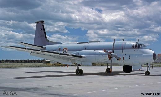 Un Breguet 1150 de la 21F, le '04' vu en 1984