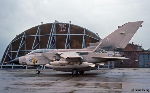 Tornado avec de multiples missions accomplies dans le Golfe