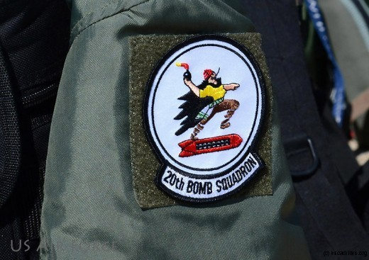 L'insigne du 20th Bomber Squadron, du 2nd Bomber Wing (Photo Joseph A. Pagan Jf)
