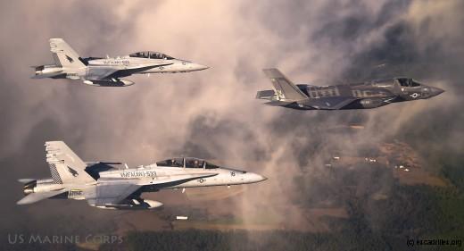 L'équation des Marines, Harrier + Hornet = Lighting