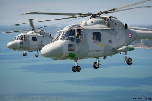 Encore pas mal d'eau à courir sous les rotors des Lynx de la 34F