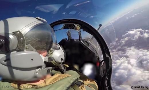 Pilote de 2000D au dessus du Levant