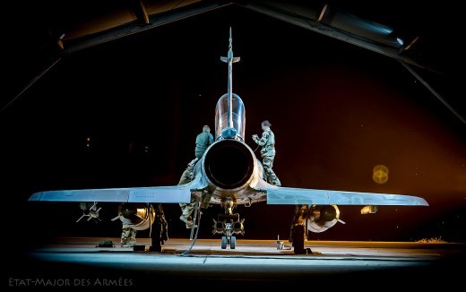 H : préparation d'un Mirage avant une mission