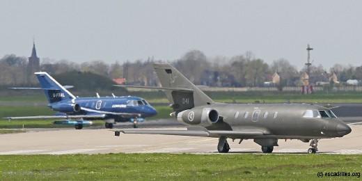 Les deux Falcon 20 ECM impliqués dans l'exercice