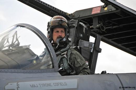 . David Halasi-Kun, 131st EFS detachment commander, aux commandes de son F-15 (crédit 104 FW)