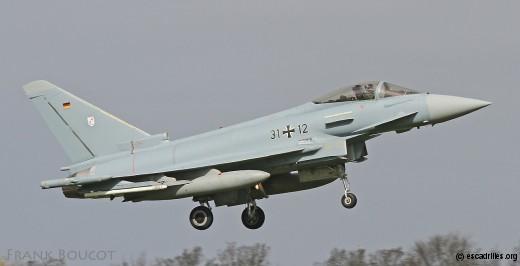 Eurofighter allemand du TaktLwG 31, plus récente unité dotée du type au sein de la Luftwaffe. Ceci ne sera plus vrai en juillet prochain, quand le TaktLwG 71 sera formellement recréé à Wittmund
