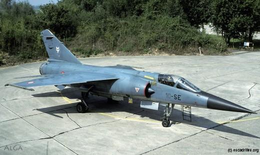 Mirage F-1C du Valois, alors que l'escadron était toujours le 1/10, en 1984