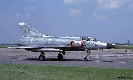 Juillet 1974 : le 1/10 Valois rejoint le 2/10 Seine sur Mirage IIIC (ici vu en 1977)