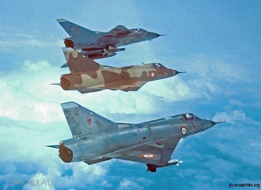 Trois avions, trois config, trois camouflages, (presque) trois escadrons !