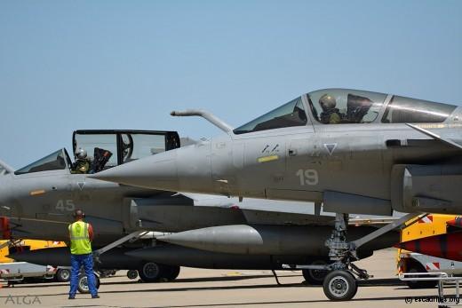 Le 45, Rafale des plus récents, avec un AESA qui aide à conquérir la supériorité aérienne