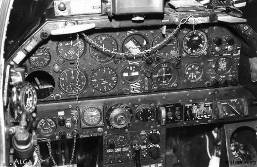 Le bureau d'un pilote de B2