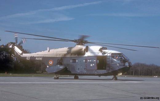 Super Frelon de la 32F en 1983
