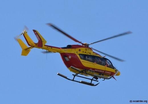 EC145 servant de PC volant, comme le 14 juillet près de Narbonne