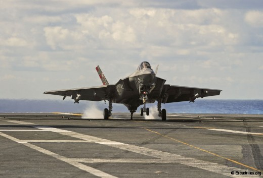 Carton plein pour la VX-23, au moment où le F-35 est encore discuté chez les opérationnels, qui ne sont pas il est vrai des gros fans des monréacteurs ! (U.S. Navy photo by Mass Communication Specialist 3rd Class Wyatt L. Anthony)