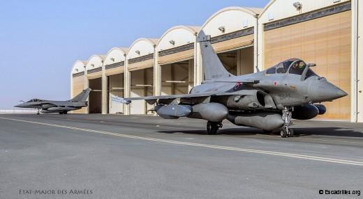 Lors du raid du 21 août, les Rafale en configuration 'AI' avec des missiles Scalp