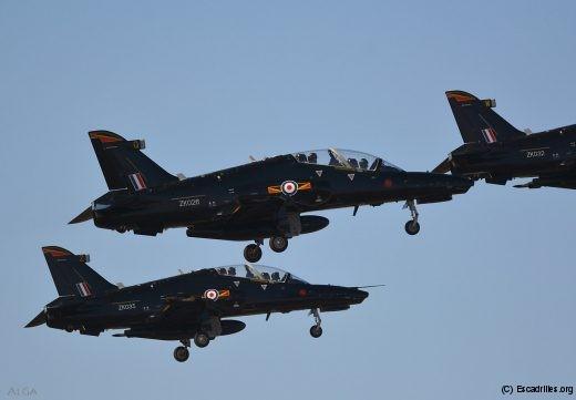 Le décollage en patrouille à 3, une pratique courante au 4(R) Squadron