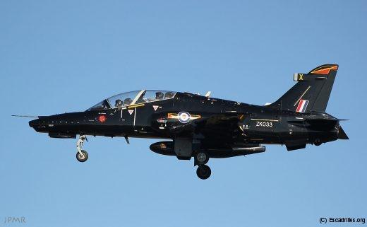 Un des Hawk T2 arrivant directement de RAF Valley