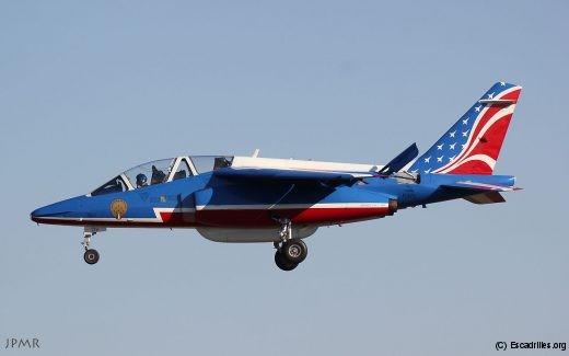 Alphajet F-UGFC vu le 9 janvier, avec sa déco USA 2017