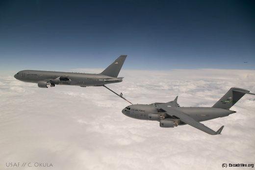 Essai de compatibité avec un C-17A en juillet 2016