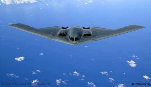 Un B2 du 509th Bomb Wing de Whiteman vu le 30 mai 2006 (U.S. Air Force/Staff Sgt. Bennie J. Davis III)