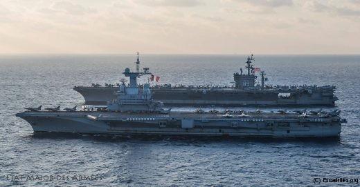 CdG et Ike: il est arrivé que le porte-avions français prolonge un peu sa station en attendant une relève américaine