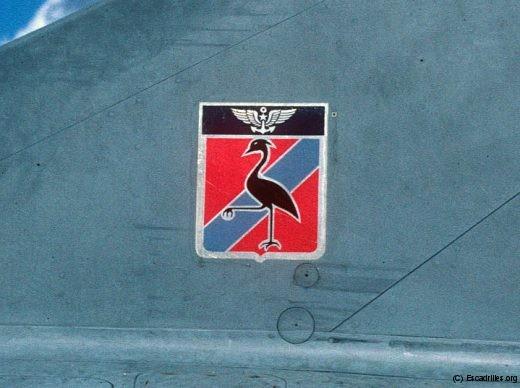 La 'Grue à la pierre', insigne de la 16F, deuxième du nom